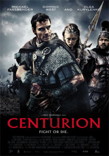 This is the poster for Centurion (film). The poster copyright is believed to belong to Simon Bowles (production designer of film) and Pathe Productions