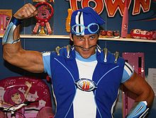 Magnús Scheving as Sportacus from LazyTown