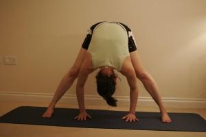 Intense Spread Leg Stretch Yoga Pose or Wide-Legged Forward Bend - Prasarita Padottanasana