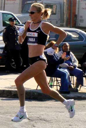 Paula Radcliffe running in the New York marathon