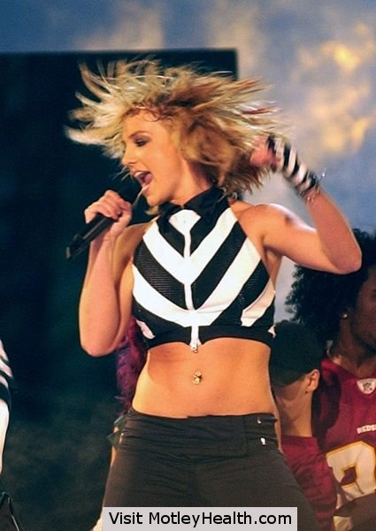 Britney Spears at the NFL Kickoff Live 2003 - Photo by Chief Warrant Officer 4 Seth Rossman
