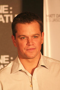 Matt Damon promoting the film The Bourne Ultimatum