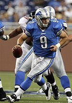 Matthew Stafford, quarterback for Detroit Loins, source: wikipedia