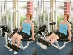 Leg Extension Machine Exercise