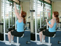 Pulldown Machine Exercise