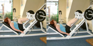 Leg Press Machine Exercise