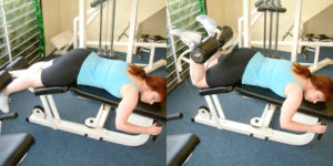 Lying Leg Curl Machine Exercise
