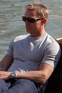 Daniel Craig on Venice on a boat