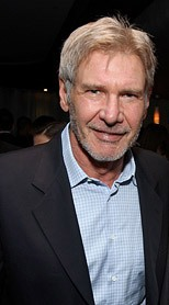 Harrison Ford wearing a jacket and open collar 2007