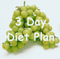 3 day diet plan - green grapes