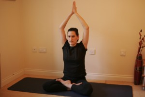 Variation of the Lotus Pose