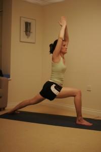 Warrior I Yoga Pose - Virabhadrasana I