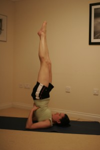 Shoulderstand Yoga Pose