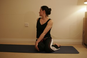 Seated Twist Yoga Pose - Bharadvajasana I
