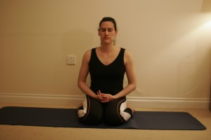 Hero Yoga Pose - Virasana