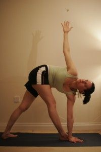 Revolved Triangle Yoga Pose -  Parivrtta Trikonasana