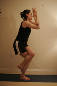 Eagle Yoga Pose - Garudasana