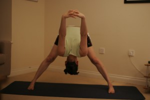 Intense Spread Leg Stretch Yoga Pose or Wide-Legged Forward Bend -  Prasarita Padottanasana