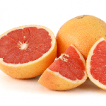 sliced grapefruit