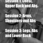 3 sessions weight training