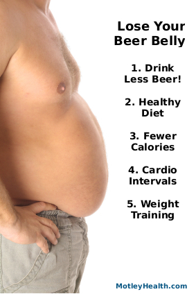 5 steps to Lose your beer belly