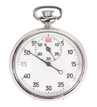 a clock and stopwatch