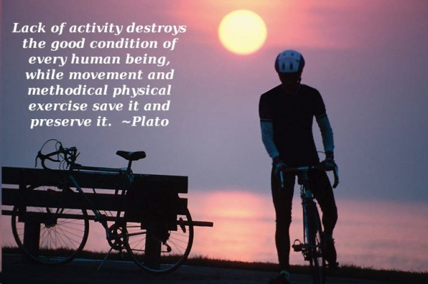 Lack of activity destroys the good condition of every human being, while movement and methodical physical exercise save it and preserve it - Plato