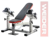 Weider WEBE2496 Club Sidekick Weight Bench with Dumbbells