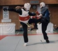 Jon Wade fighting in a Kung-fu tournament