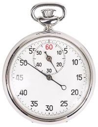 a silver stop watch