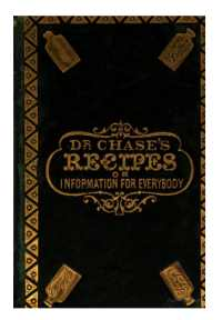 Dr Chases recipes or Information for Everybody