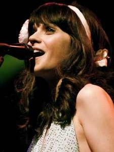 Zooey Deschanel singing in She and Him