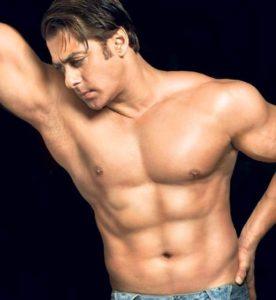 Salman Khan, shirtless