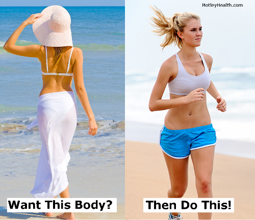 Attractive woman relaxing on a beach and running