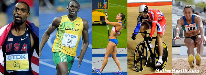 Montage of top Olympic Athletes