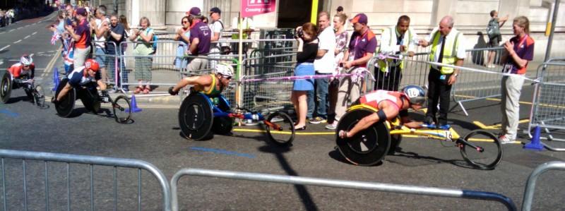 David Weir at the London 2012 Paralympics