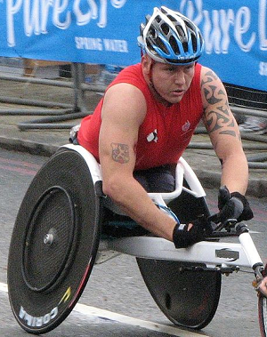David Weir at the 2010 London Marathon