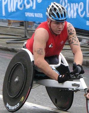 David Weir at the 2010 London Marathon