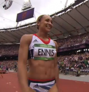 Jessica Ennis after long jump- London 2012
