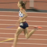 Lisa Dobrisky in the 155m final at London 2012
