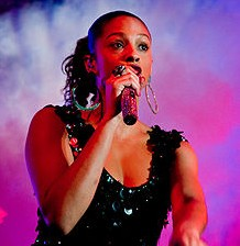 Alesha Dixon performing in 2008