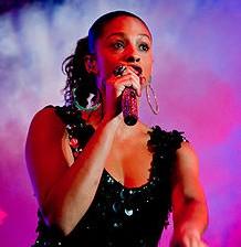 Alesha Dixon performing in 2008
