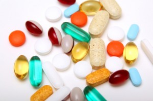 A selection of weight loss pills and supplements