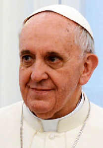 Portrait of Pope Francis smiling