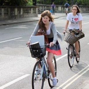 Cycling around town in Oxford