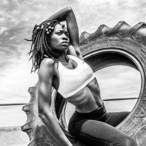 fit and toned black woman