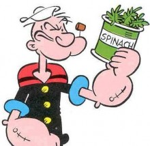 Popeye and his spinach