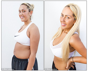Sophie Kasaei before and after weight loss