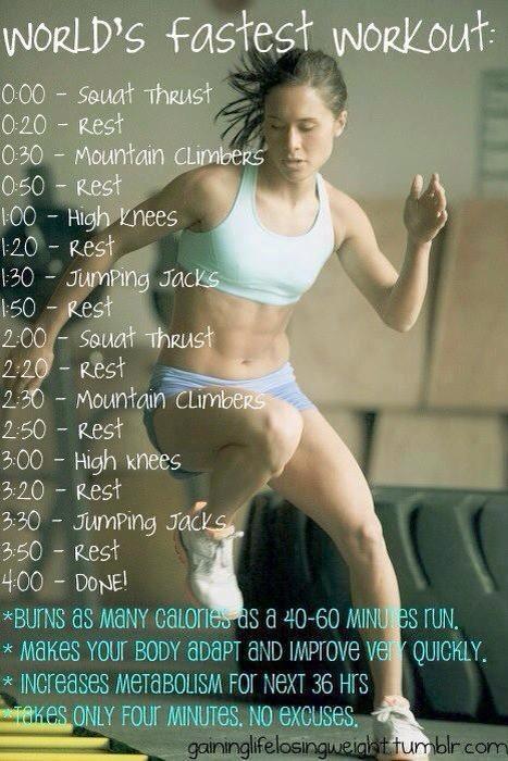 Worlds Fastest Workout