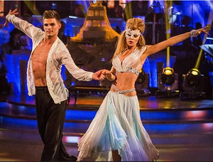 Abbey Clancy with Aljaz Skor-janec